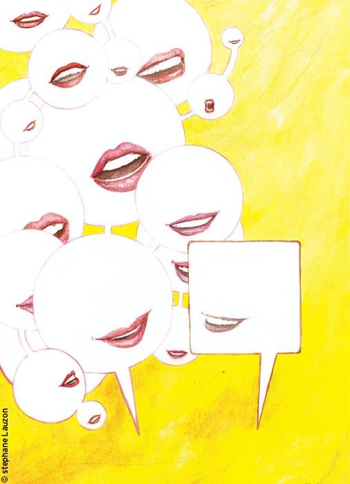 La femme parle plus que l'homme