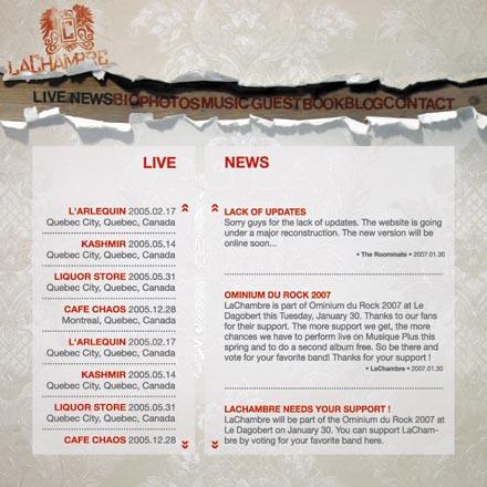 Site Web LaChambre
