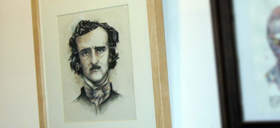 Cadre : Edgar Allan Poe et les corbeaux