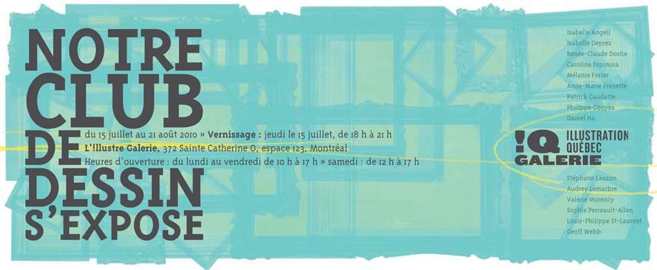 Carton invitation Notre club de dessin expose