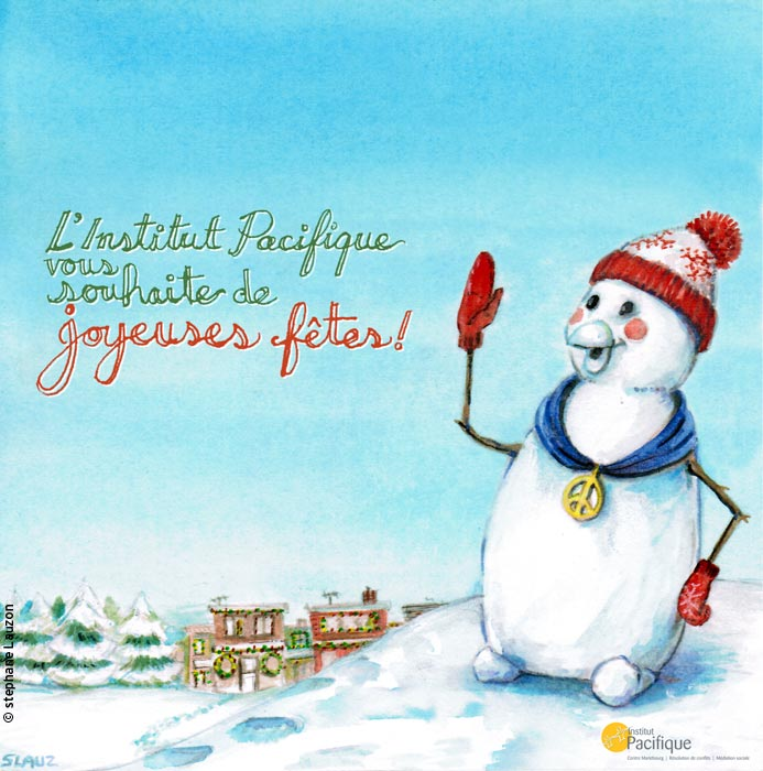 Carte de Noel de l'institut Pacifique
