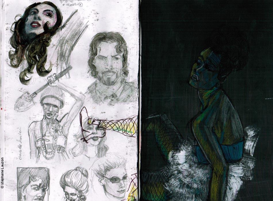 esquisse / sketchbook Stephane Lauzon