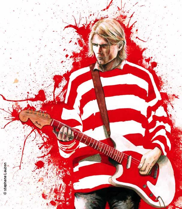 portrait Kurt Cobain