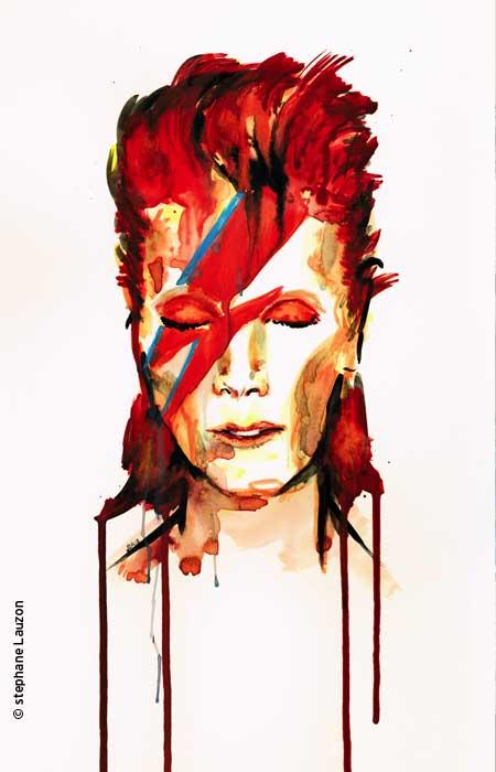David Bowie par Stéphane Lauzon