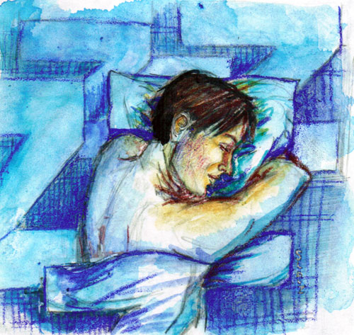 illustration friday : Asleep