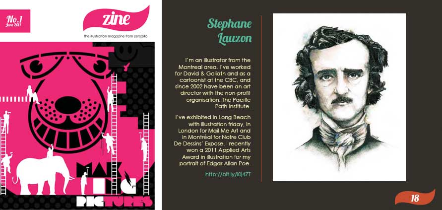 Stephane Lauzon in Zine Zero2illo