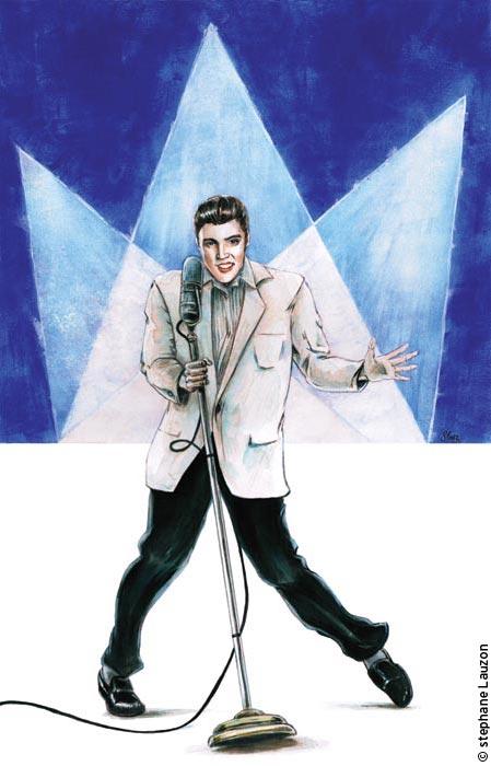Portrait de Elvis Presley par Slauz
