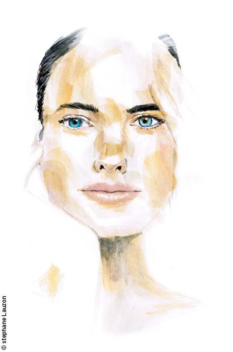 sketch d'un visage de femme