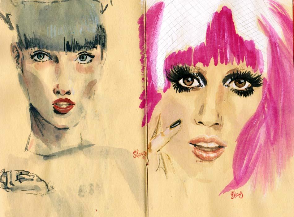 Lady gaga sketch / esquisse