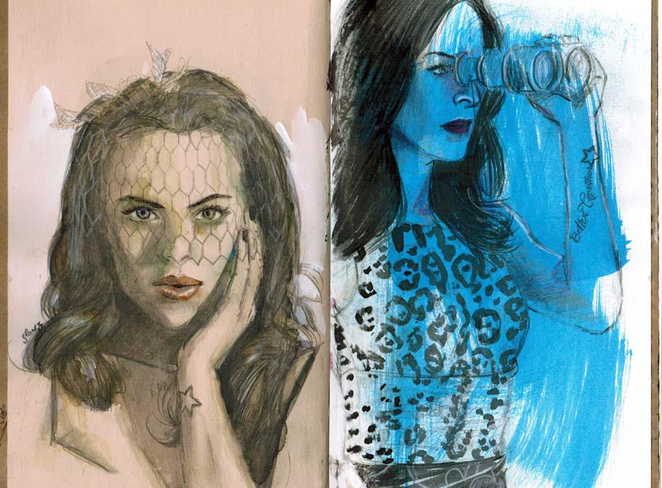 Marie Mai. Watercolor/watercolor, pencil/crayon and gouache