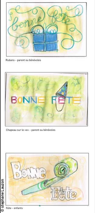 carte de bonne fête / happy birthday cards par Stephane Lauzon