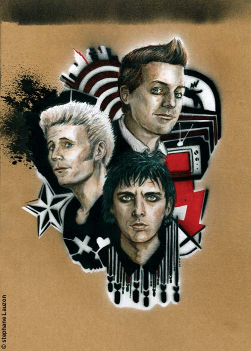 Green Day illustration Stephane Lauzon