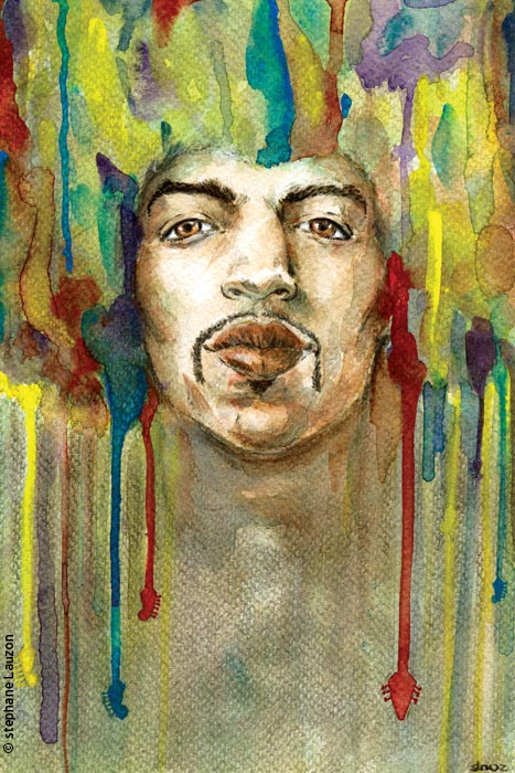 Portrait de Jimi Hendrix