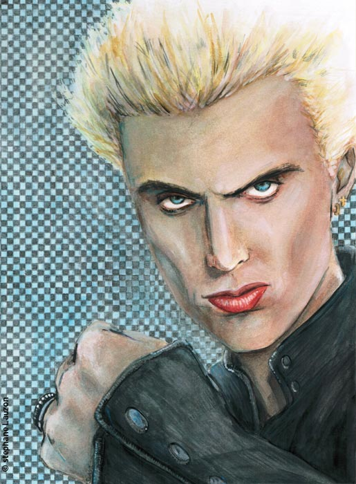 Billy Idol portrait illustration par stephane Lauzon