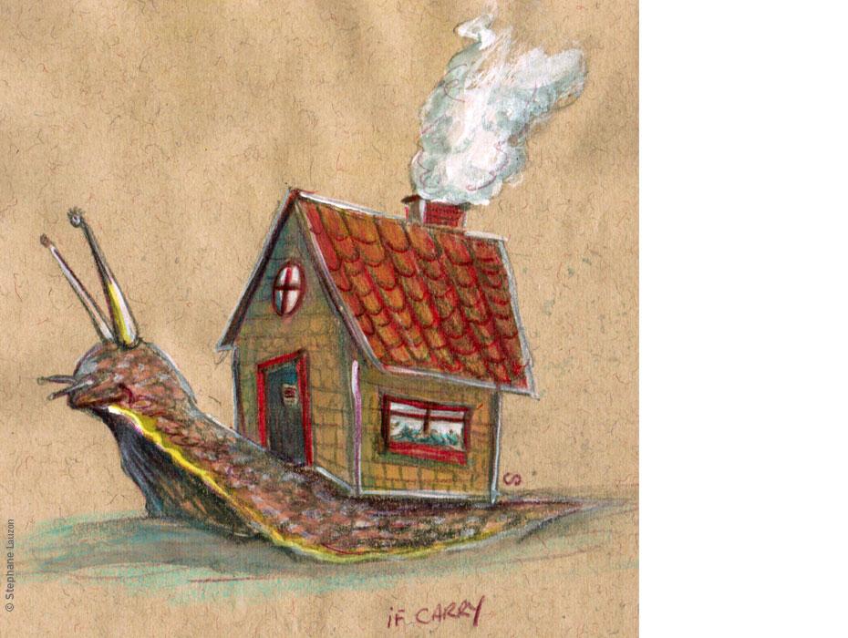 stephane lauzon illustration , illustration friday, Carry