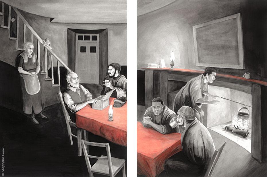 stephane lauzon, illustration, Phare Pointe-des-Monts, Productions Train d'enfer
