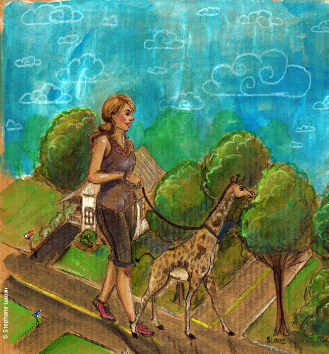 illustration friday : Tall par Stephane Lauzon