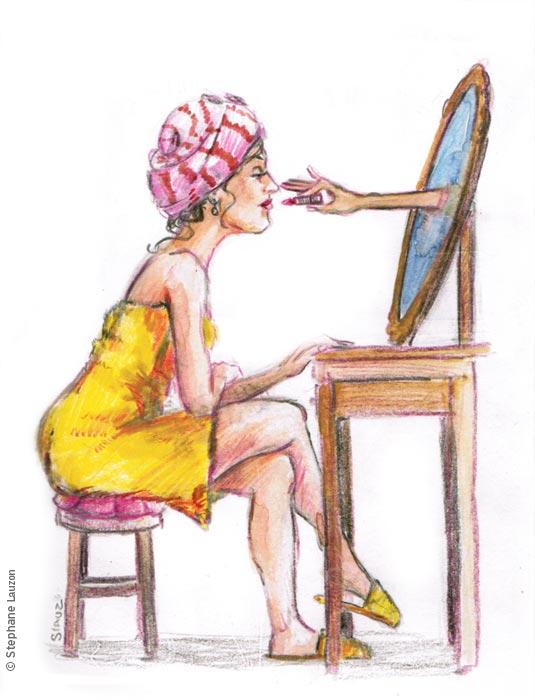 illustration friday Mirror