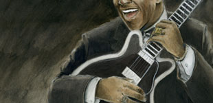 BB king Portrait - stephane lauzon