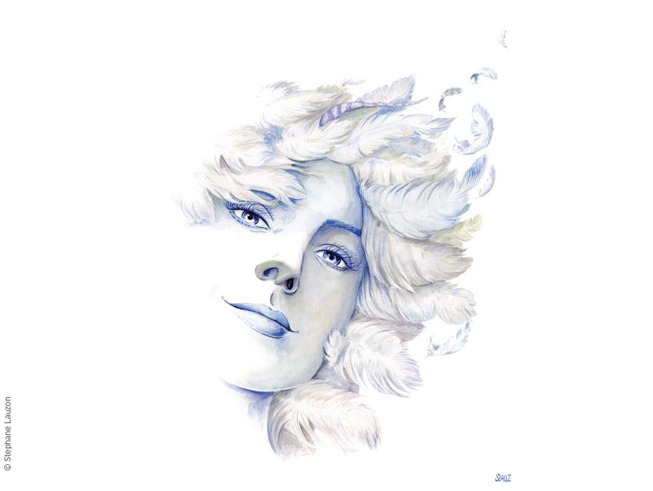 Déesse Air par l'illustrateur Stéphane Lauzon