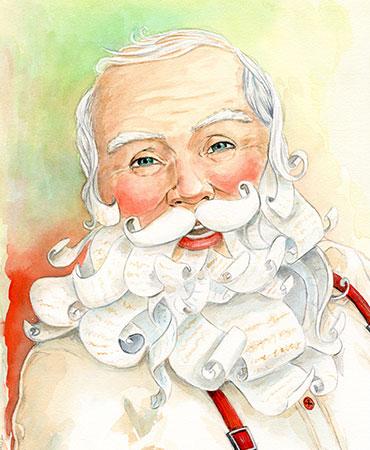 Carte de souhaits du Père Noël