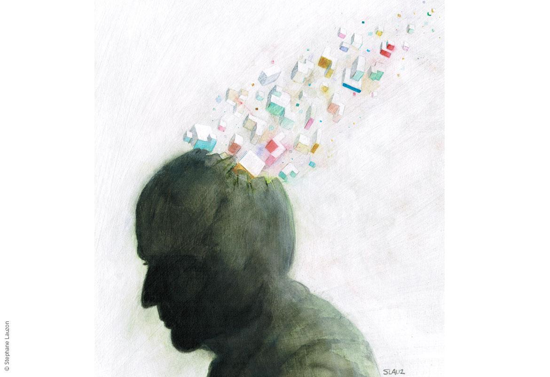 stephane lauzon illustration : Alzheimer
