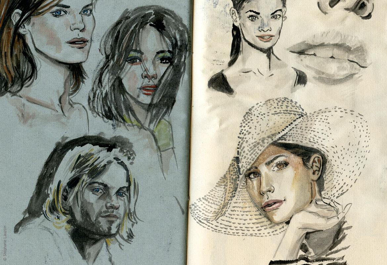 Stéphane Lauzon Illustration Esquisses et portraits
