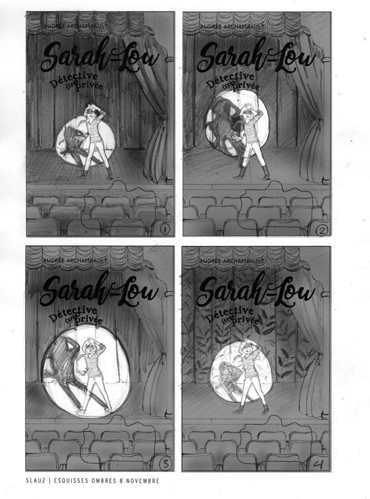 Création d'une couverture de roman Jeunesse - Sarah-Lou Tome 3 - Par Stéphane Lauzon